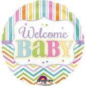 Mini fóliový balónek Welcome Baby