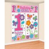 Nástěnná dekorace 1.narodeniny B-day Girl