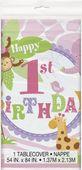 Ubrus 1.narozeniny pink Safari