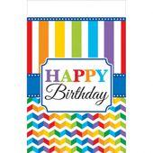 Ubrus Birthday Bright rainbow