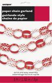Papírová řetěz Dots červená