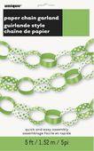 Papírová řetěz Dots limetková zelená