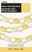 Papírová řetěz Dots žlutá