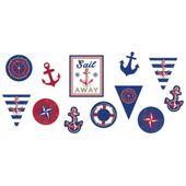 Papírové výřezy Námořnická párty