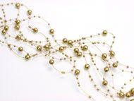 Perleťový girlandy zlatě