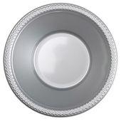 Plastová miska stříbrná