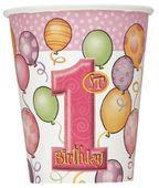 Kelímek 1.narozeniny holčička