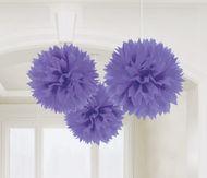 Pompónové koule fialová