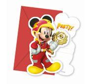 Pozvánky Mickey a závodníci