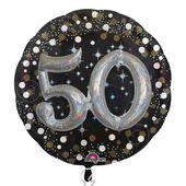 """Prémiový multi balónek """"50"""" Gold Diamonds"""
