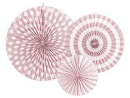 Rozetky pastelové růžové