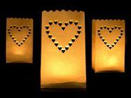 Sáčky na svíčky srdce - velké