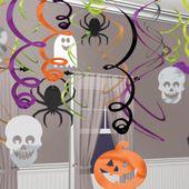Sada 30 spirál Halloween