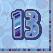 "Ubrousky Birthday ""13"" Blue"