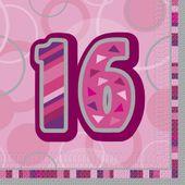 "Ubrousky Birthday ""16"" Pink"