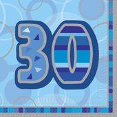"Ubrousky Birthday ""30"" Blue"