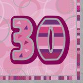 "Ubrousky Birthday ""30"" Pink"