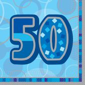 "Ubrousky Birthday ""50"" Blue"