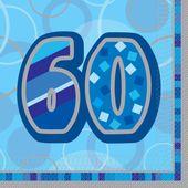 "Ubrousky Birthday ""60"" Blue"
