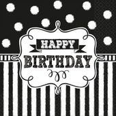 Ubrousky Chalkboard Birthday