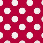 Ubrousky malé červené tečky