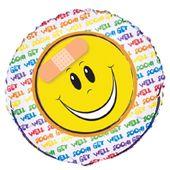 Fóliový balónek Smiley Get well soon