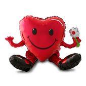 Balónek Smajlík srdce 3D