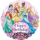 Zpívajíci fóliový balónek Disney Princezny