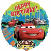 Zpívajíci fóliový balónek Cars