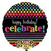 """Zpívajíci fóliový balónek """"Celebrate"""""""