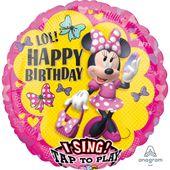 Zpívajíci fóliový balónek Minnie Happy Helpers
