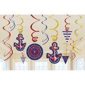 Závěsné spirály Námořnická párty