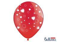 Srdíčkové balónky červené