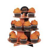 Stojan na košíčky a muffiny oranžovo-černý