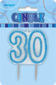 Svíčka 30 modrá
