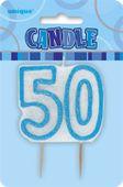 Svíčka 50 modrá