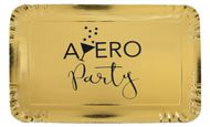 Tácek Aperol Party metalický zlatý