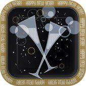 Talíř čtvercový Bubbly New Year