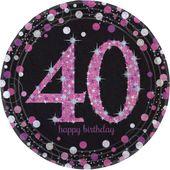 """Talíř """"40"""" Pink Diamonds"""