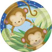 Talíř baby boy Monkey