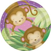 Talíř baby girl Monkey