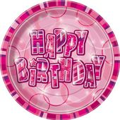 Talíř Birthday Pink