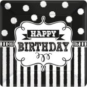 Talíř malý Chalkboard Birthday