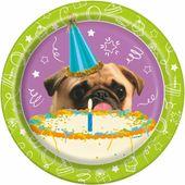 Talíř malý Pug Birthday