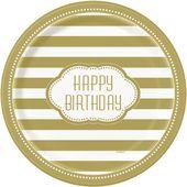 Talíř velký Happy Birthday Gold