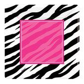 Talíř velký Pink Zebra