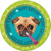 Talíř velký Pug Birthday