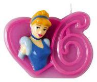 Dortová svíčka Disney princezny, číslo 6