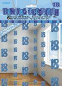 Závěsné dekorace glitz 18 modré