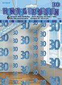 Závěsné dekorace glitz 30 modré